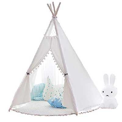 Little Dove Tente de Jeu en Coton Tipi pour Enfants (avec Matelas ) 100% Naturel